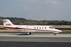 Air Ambulance LEARJET 35 About To Take Off